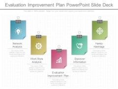 Evaluation Improvement Plan Powerpoint Slide Deck