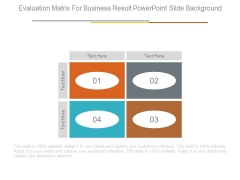 Evaluation Matrix For Business Result Powerpoint Slide Background
