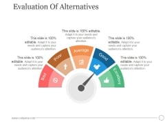 Evaluation Of Alternatives Ppt PowerPoint Presentation Guide