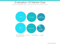 Evaluation Of Market Size Ppt PowerPoint Presentation Ideas