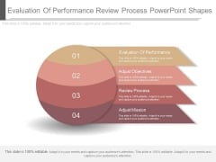 Evaluation Of Performance Review Process Powerpoint Shapes