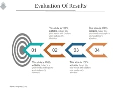 Evaluation Of Results Ppt PowerPoint Presentation Layouts