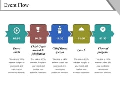 Event Flow Ppt PowerPoint Presentation Icon