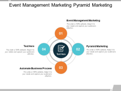 Event Management Marketing Pyramid Marketing Automate Business Process Ppt PowerPoint Presentation Layouts Display