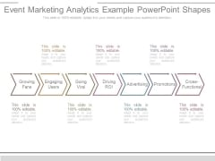 Event Marketing Analytics Example Powerpoint Shapes