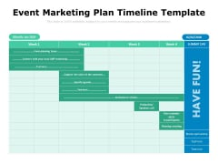 Event Marketing Plan Timeline Template Ppt PowerPoint Presentation Icon Model PDF