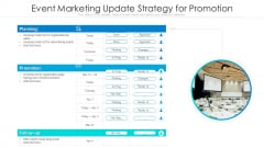 Event Marketing Update Strategy For Promotion Ppt Summary Model PDF