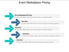 Event Marketplace Pricing Ppt PowerPoint Presentation Ideas Design Ideas Cpb
