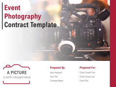Event Photography Contract Template Ppt PowerPoint Presentation Complete Deck With Slides