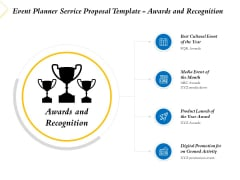 Event Planner Service Proposal Template Awards And Recognition Ppt Portfolio Clipart Images PDF