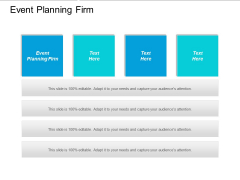 Event Planning Firm Ppt PowerPoint Presentation Visual Aids Gallery Cpb