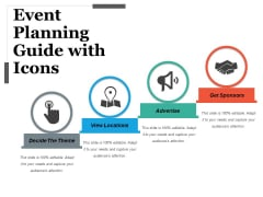 Event Planning Guide With Icons Ppt PowerPoint Presentation Infographics Ideas