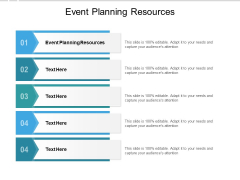 Event Planning Resources Ppt PowerPoint Presentation Infographics Infographic Template Cpb