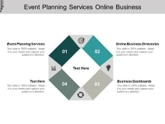 Event Planning Services Online Business Directories Business Dashboards Ppt PowerPoint Presentation File Background Images
