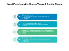 Event Planning With Choose Venue And Decide Theme Ppt PowerPoint Presentation Ideas Show