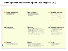 Event Sponsor Benefits For Sports Club Proposal Price Ppt PowerPoint Presentation Model Example File PDF