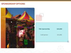 Event Sponsorship Options Ppt Gallery Mockup PDF