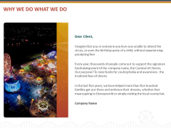 Event Sponsorship Why We Do What We Do Ppt Model Graphic Tips PDF