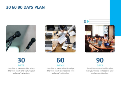 Event Time Announcer 30 60 90 Days Plan Ppt Professional Graphics PDF