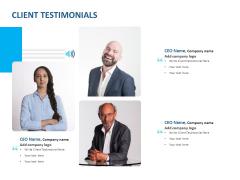 Event Time Announcer Client Testimonials Ppt Styles Show PDF