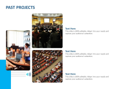 Event Time Announcer Past Projects Ppt Model Master Slide PDF