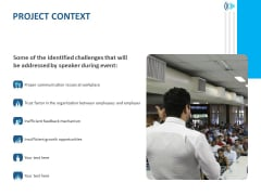 Event Time Announcer Project Context Ppt Icon Graphics Example PDF