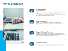 Event Time Announcer Work Contract Ppt Layouts Images PDF