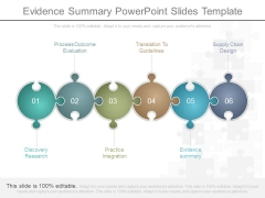 Evidence Summary Powerpoint Slides Template