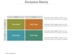 Evolution Matrix Ppt PowerPoint Presentation Ideas