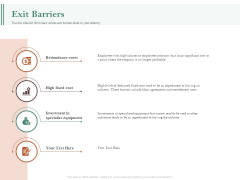 Examining The Industry Environment Of Company Exit Barriers Ppt Slides Outfit PDF