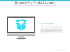 Example For Product Launch Ppt PowerPoint Presentation Ideas