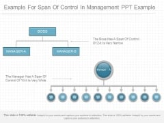 Example For Span Of Control In Management Ppt Example
