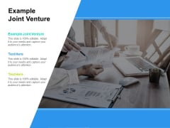 Example Joint Venture Ppt PowerPoint Presentation Professional Background Cpb