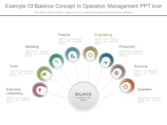Example Of Balance Concept In Operation Management Ppt Icon