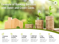 Example Of Banking Services With Debit And Credit Cards Ppt PowerPoint Presentation Styles Themes