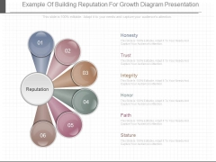 Example Of Building Reputation For Growth Diagram Presentation