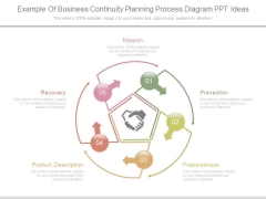 Example Of Business Continuity Planning Process Diagram Ppt Ideas
