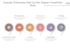 Example Of Business Start Up Plan Diagram Powerpoint Show