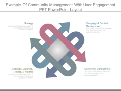 Example Of Community Management With User Engagement Ppt Powerpoint Layout