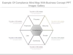 Example Of Compliance Mind Map With Business Concept Ppt Images Gallery