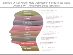Example Of Conversion Rate Optimization For Business Goals Analysis Ppt Powerpoint Slides Templates