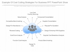 Example Of Cost Cutting Strategies For Business Ppt Powerpoint Show