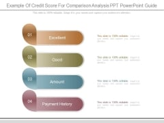 Example Of Credit Score For Comparison Analysis Ppt Powerpoint Guide