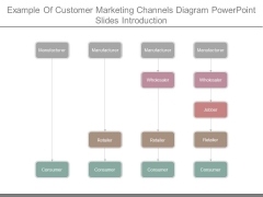 Example Of Customer Marketing Channels Diagram Powerpoint Slides Introduction