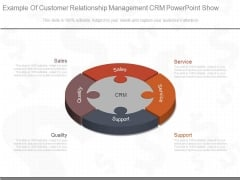 Example Of Customer Relationship Management Crm Powerpoint Show
