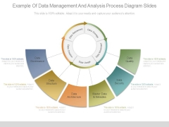 Example Of Data Management And Analysis Process Diagram Slides
