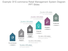 Example Of E Commerce Retail Management System Diagram Ppt Slides