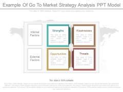 Example Of Go To Market Strategy Analysis Ppt Model