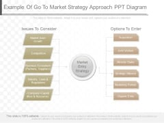 Example Of Go To Market Strategy Approach Ppt Diagram