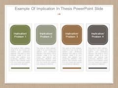Example Of Implication In Thesis Powerpoint Slide